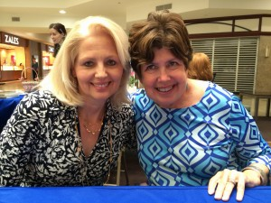 With Mary Kay Andrews at the Washington Romance Writers Pre-Retreat signing on April 17, 2015.