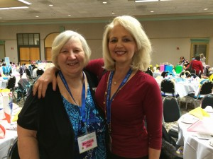 With Barbara Vey at the Barbara Vey Reader Luncheon on April 25, 2015 in Milwaukee, Wisconsin.