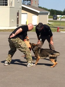 Students were treated to canine demonstrations as well as classroom instruction from active duty canine handlers.