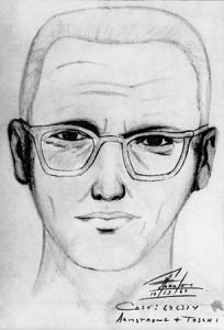"Police sketch of the man suspected of being the ""Zodiak Killer,"" 1969."