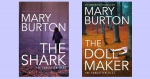 Covers for Mary Burton's THE SHARK and THE DOLLMAKER