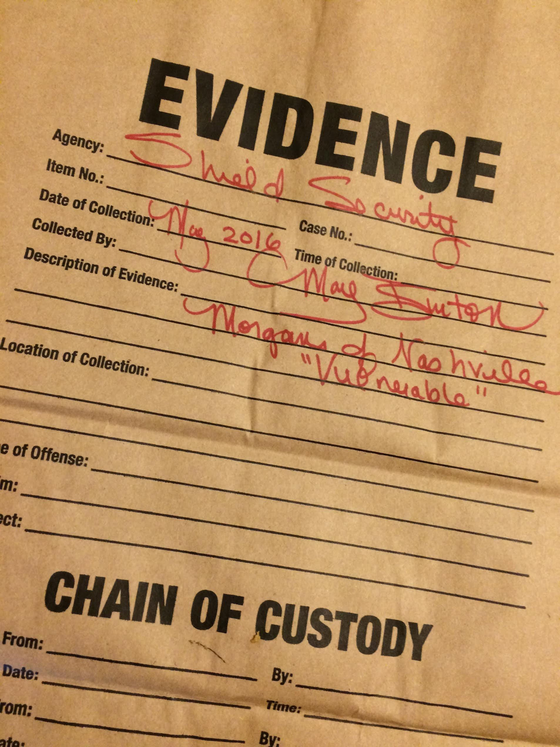 Picture of paper evidence collection bag