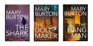 Covers of The Shark, The Dollmaker and The Hangman