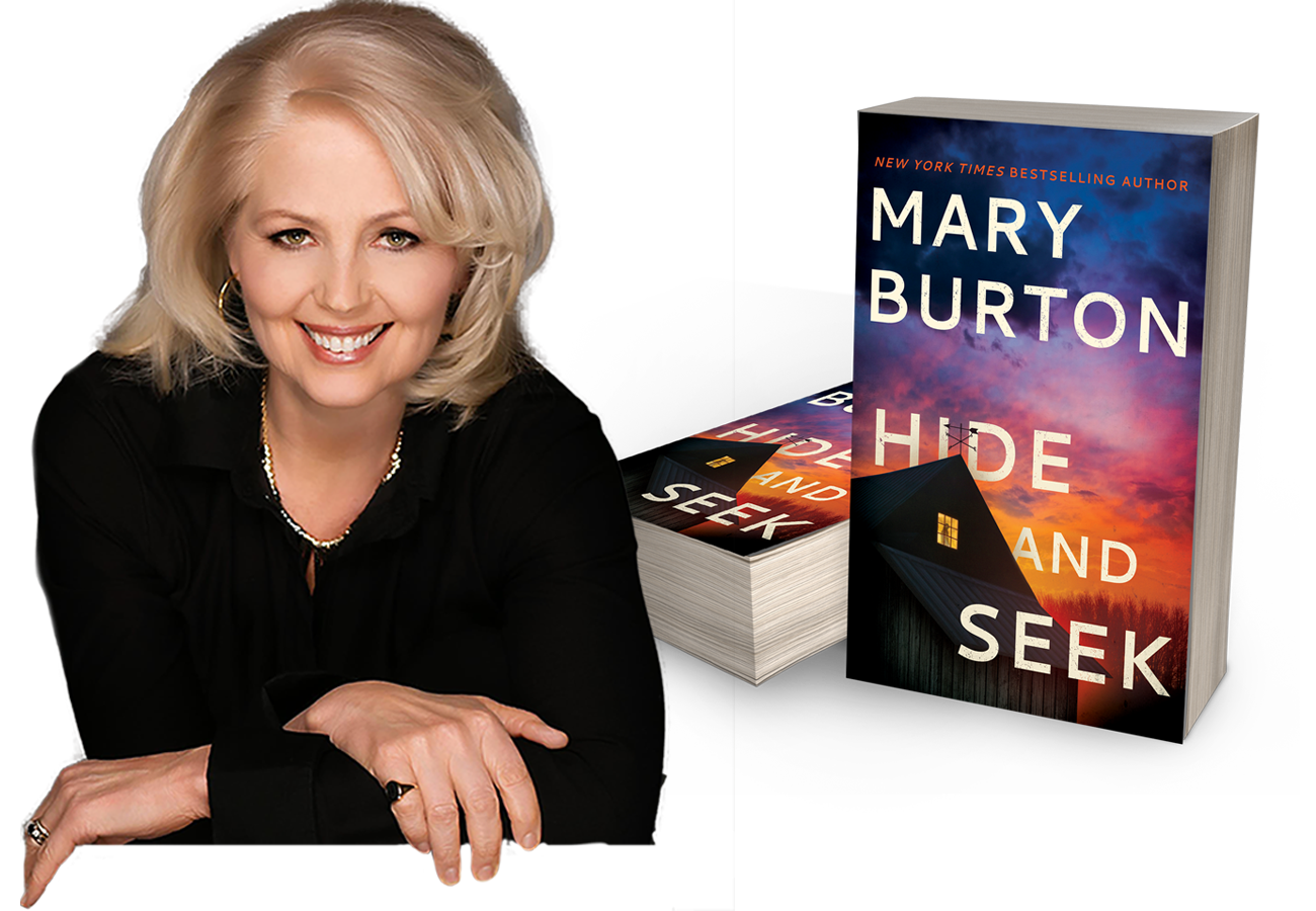 Mary Burton's HIDE AND SEEK Pub Day Party–RSVP and Be Entered for All Prizes